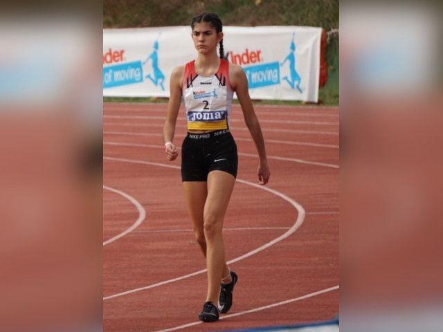 Diana Fernández en el campionat d'Espanya