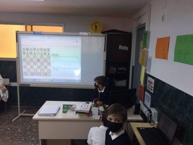 Primera trobada online d'escacs
